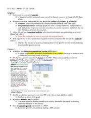Exam 1 study guide - Ch 1,2,3,6,9 - Marginal analysis, ppf, change in demand & quatntity demaded, su