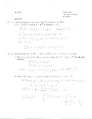 Quiz 2 Solution on Calculus