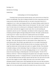 Soci 1101 Journal Essay on Relationships and Love