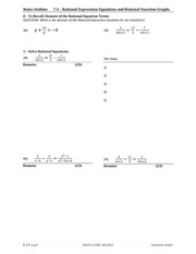 Rational Expression Equation Lecture Material
