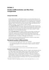 EC366_5 Product Differentiation and Non-Price Competition
