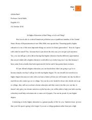 Role of Higher Education Paper.docx