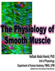 The Physiology of Smooth Muscle_Medic YR1_29Sept2016