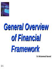 Overview of Financial Framework
