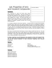 Properties of Ionic and Covalent Compounds (1).doc