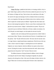 English Oedipus essay