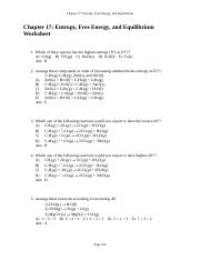 Chapter 17-Worksheet with answers