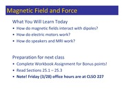 Class 101 - Magnetic Force
