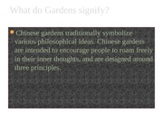 East Asian Civilization What do Gardens signify