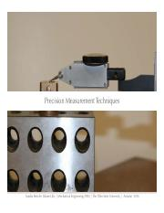 2. Precision Measurement