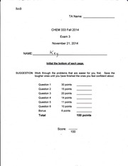CHEM 333 Fall 2014 Exam 3 Answer Key Rev B