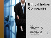 Ethical Indian Companies grp 2