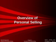 Chapter 2. Overview of Personal Selling