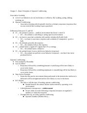 Chapter 5 - Basic Principles of Operant Conditioning.docx