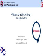 Library induction