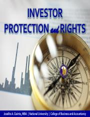 PDF Investor Protection and Rights