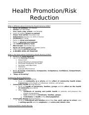 Upstream Health Promotion Risk Reduction.docx