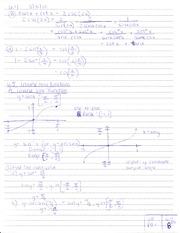6.5 Inverse Trig Functions