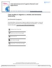 Case studies in logistics a review and tentative taxonomy.pdf