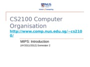 cs2100-11-MIPS-intro