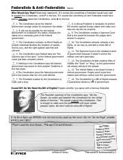 Icivics Federalism Worksheet Answers