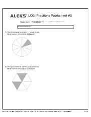 LO2 Fractions Worksheet #2