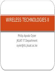 Wireless Technologies II June 2014