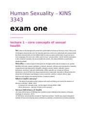 Human Sexuality Notes