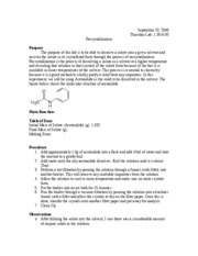 Recrystallization of acetanilide with water lab report
