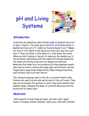 pH and living system notes