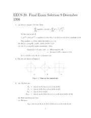 Electrical Engineering 20N - Fall 1998 - Final Exam