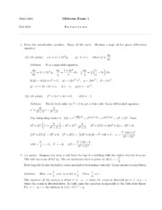 ASample Exam 4 Solution
