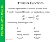 Chapter 04 PDC-15 PPC - Transfer functions