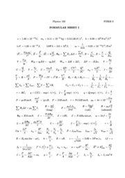 Physics 102 Formula Sheet
