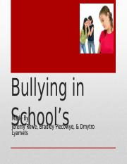 Bullying in School's (GOOD COPY)