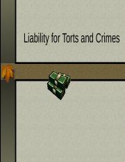 Chapter -Liability Torts and Crimes