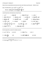 Derivatives Review - AP Calculus BC Worksheet 22 1 Derivatives ...