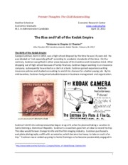 Rise and Fall of Kodak