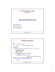 Lecture Notes on Bayesian Belief Network