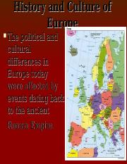History and Culture of Europe.ppt