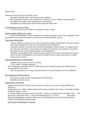 Ch. 10 Hamilton and Jeffersonians notes
