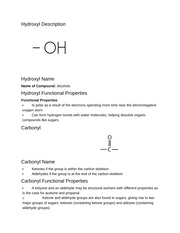Functional Groups Notes