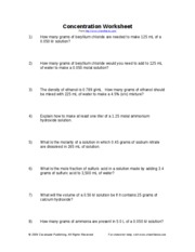 Printables Dilutions Worksheet dilutionsworksheet what will the concentration of this solution dilution worksheet doc 2 pages concentrationworksheet