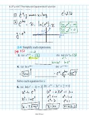 6.3 p 447 The Natural Exponential Function