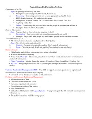 Foundations of Information Systems - Midterm Study Guide