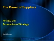 10 - Supplier power - DB