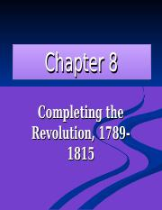 Chapter 8-The New Republic