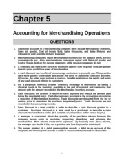 merchandise accounting definition