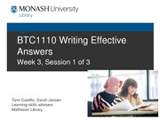 Writing Effective Answers workshop 1