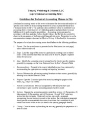 MEMO_TO_FILE GUIDELINES